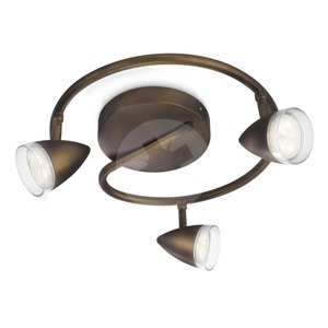 NOV 2014 MAPLE plate/spiral LED bronze 3x4W